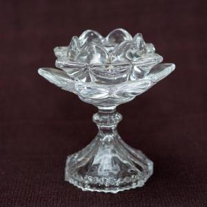 Стъклен свещник за чаени свещи