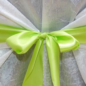 Панделкa за стол – светло-зелена сатен