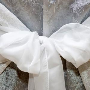 Панделкa за стол – бяла воал